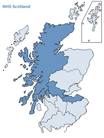 Map of NHS Scotland